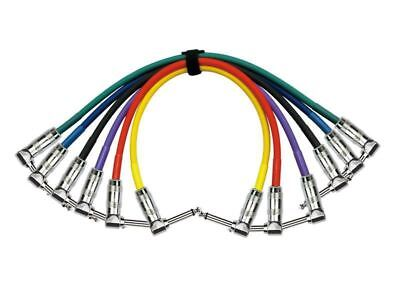 Kirlin 1ft Colored Patch Cables - Right Ange - 6 pack