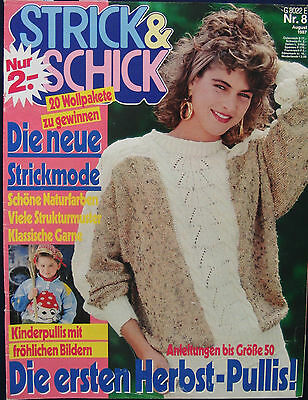 Strickheft Strick & Schick - Altes Strickheft August 1987 - Rarität
