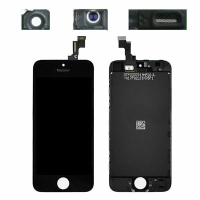Display Schermo Iphone 5S Nero Per Apple Touch Screen Lcd Retina Vetro Frame