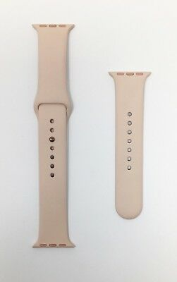 Genuine Apple Watch Sport Band 38mm, Pink Sand/ Rose Gold Pin - VG - No Box