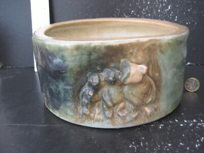 Very Rare Vintage Denby Langley Large Bowl 3 Bears On Front