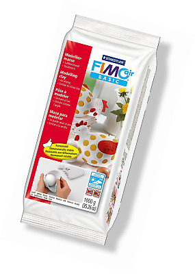BEST Craft Clay Staedtler Fimo Air Basic Air Drying Modelling Clays 1kg  White
