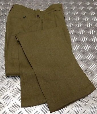 Genuine Vintage British Army No2 Dress Trousers Zipper Fly WWII Re-enactment