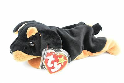 VERY RARE Ty Doby Beanie Baby Style 4110 1996 PVC Pellets with TAG ERRORS