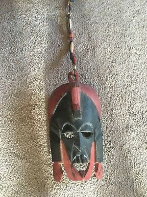 African Tribal Masai hardwood hand carved  Vintage Tribal Wall Art