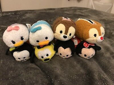 Disney tsum starter set of 8 Mickey Minnie Donald Daisy Pluto Goofy Chip Dale