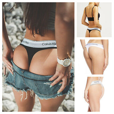 Calvin Klein Ladies Women Underwear THONGS Cotton Modern S-M-L-XL UK SELLER