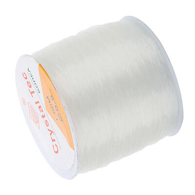1 Roll Quality Clear Crystal Strong & Stretchy Elastic Thread CHOOSE SIZE