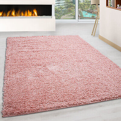 Small X Extra Large Thick Modern Rugs High Pile Plain Soft Non-Shed Shaggy Rugs