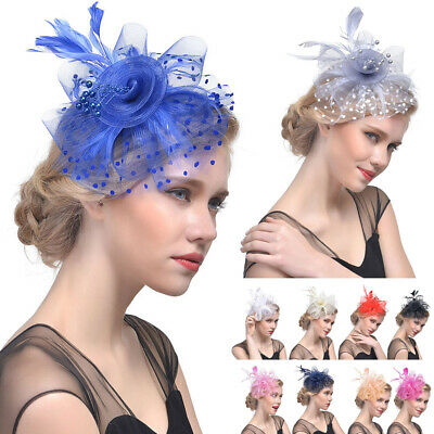 Ladies&Women's Sinamay Fascinator Evening Wedding Hats Party Derby Cocktail Hats