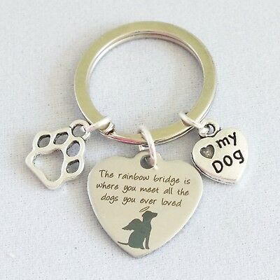 """""""The rainbow bridge is where you meet all the dogs you ever loved"""" memory alloy"""