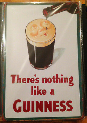 "New Man Cave 8"" x 12"" There is Nothing Like a Guinness Wall Decorative TIN SIGN"