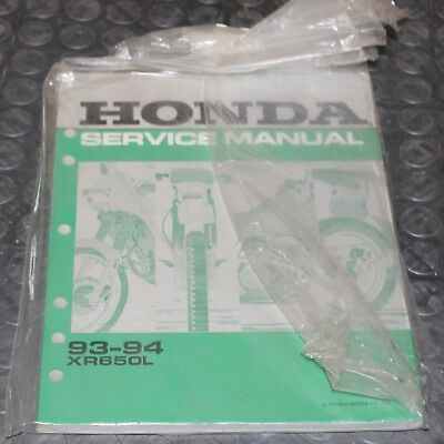 NOS OEM Honda Service Shop Manual NEW 93-94 XR650L XR 650 L