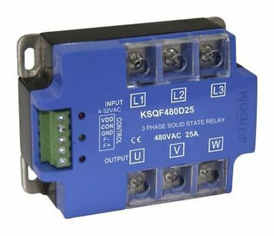 Kudom 25 A Solid State Relay 3 Phase, Zero Crossing, Panel Mount SCR, 530 V ac M