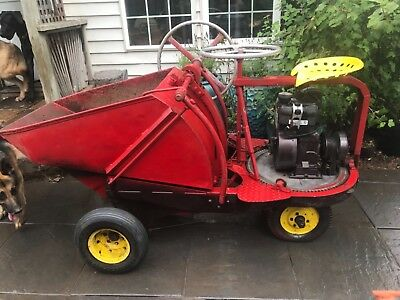 VINTAGE WHITEMAN CONCRETE Buggy Dumper Tractor Antique Farm Garden Gasoline  COOL