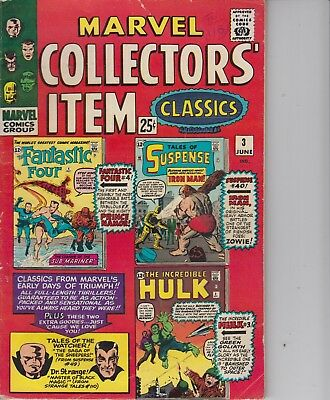 Marvel Collectors' Item Classics 3 - 1966 - Reprints Of Ff 4, Hulk 3 - Fine +