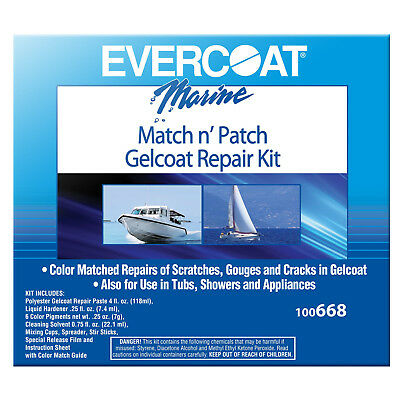 Evercoat Match n' Patch Gelcoat Repair Kit