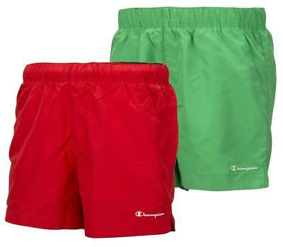New Champion Mens Swim Shorts Sz M L XL Red Green  swimming beach holiday