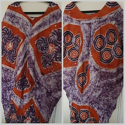 FESTIVAL CLOTHING Authentic tie dye adire womens Kaftan Africa - Bassam batik