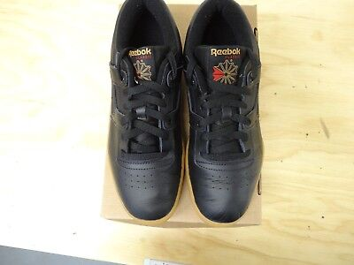 f7abcc6f240ff REEBOK MEN S CLASSIC Leather Workout Low Black Gum Size 9- 67107 ...