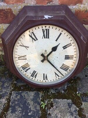 Antique GPO Bakerlite Wall Clock Pre Queen Elizabeth
