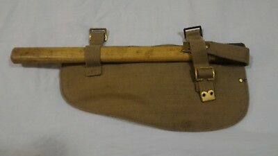 WW2 WWII Canadian British Pattern 37 Webbing Entrenching Tool Cover 1944 #2