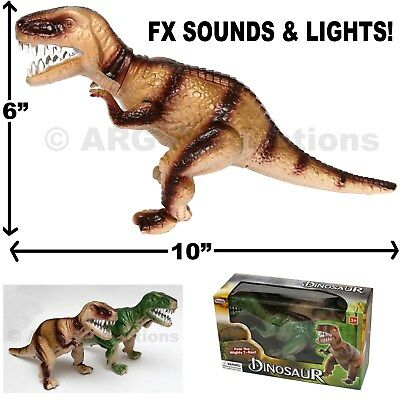 Light Up T-Rex Walking Dinosaur Toy Figure Sounds Real Movement Jurassic World