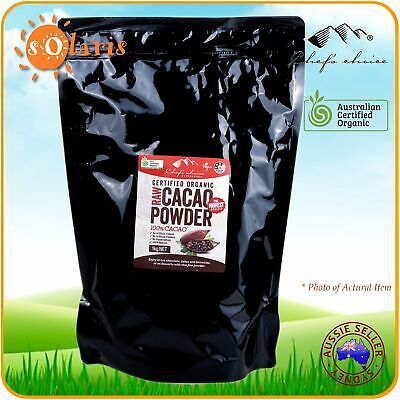 1Kg Chef's Choice Certified Organic Raw Cacao Powder 100% Cocoa Superfood