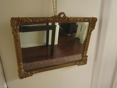Vintage Art Deco Retro Collectable Gold Gilt Frame With Bevelled Edge Mirror
