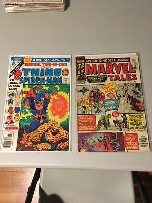 Marvel Two-In-One Annual #2 (Dec 1977, Marvel) and Marvel Tales #2 1965