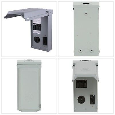 Unmetered RV Outlet Box 70 Amp 2 Space 2 Circuit 240 Volt Protected Receptacles