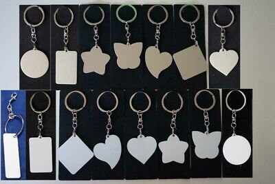10x Blank Metal Frame Shape Key Rings Heat Press machine Sublimation ink
