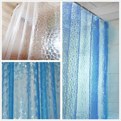 3D Bathing Shower Curtain Waterproof EVA 180*180CM Bathroom Curtains Hooks