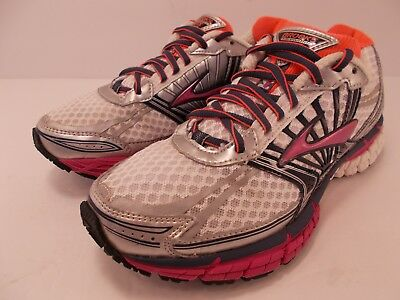 3622820058c86 Brooks Adrenaline GTS 14 Women s Running Shoes Sneakers White Pink Sz 6.5