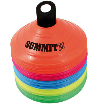 Summit 50PK Marker Sports Cones for Soccer Football Fitness Crossfit Training
