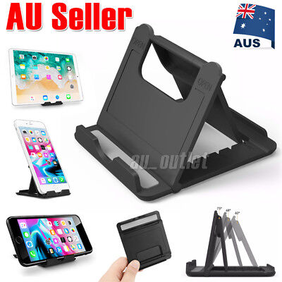 Desk Stand Folding Desktop Holder For Mobile Phone Tablet iPad iPhone Samsung