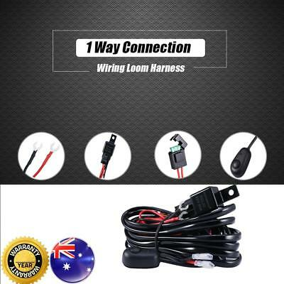 HID LED Wiring Kit Loom Harness Spot Work Driving light bar 12V 40A Swich Relay