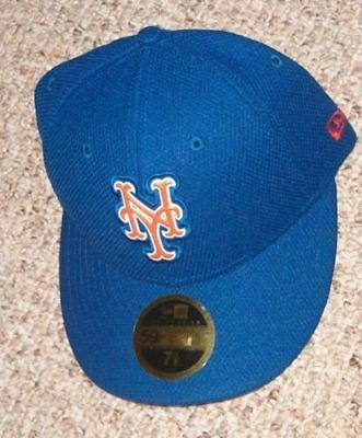 NEW ERA NEW York Mets 59Fifty Bevel Low Profile Fitted Cap Hat 7 1 4 ... 2fdd5026c45b