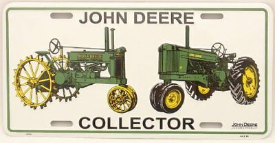 John Deere Collector License Plate, 2 tractors *BRAND NEW* Seal Wrapped