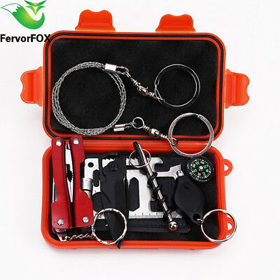 survival kit outdoor emergency camping equipment tactical hiking tool sports set