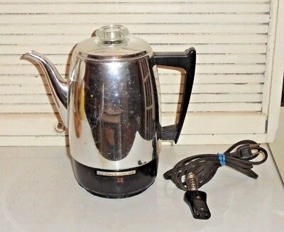 Vintage General Electric 8 Cup Automatic Coffee Percolator A1cm10