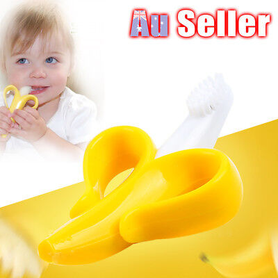 1pc Silicone Banana Safe Portable Baby Molar Teether Teething Toothbrush