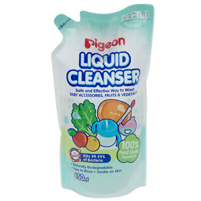 Pigeon 650ml Liquid Cleanser Refill Baby Soap Teat/Bottles/Toys/Fruit/Vegetables