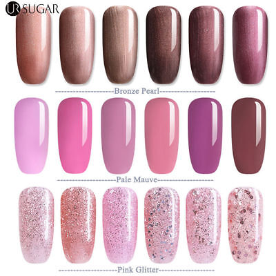 7.5ML Nail Art Semi Permanent Vernis à ongles UV Gel Polish Rose en Bronze Pearl