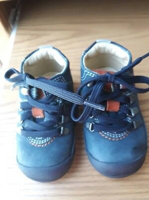 cfea79512e698 Baby Boy Toddler Chicco Flex Zone Size 4(20) Navy Blue Suede Walking Shoes