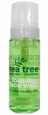 Tea Tree Foaming Face Wash 200Ml Each Daily Use Clean Healthy Skin New