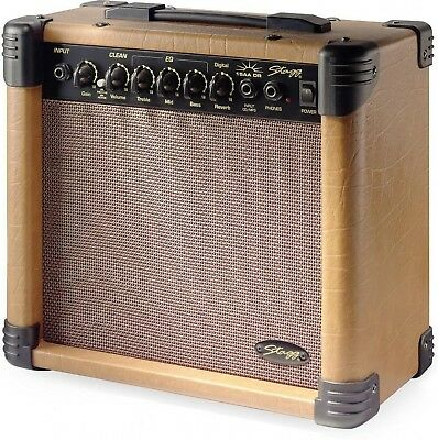 AA DR UK 15 RMS W Acoustic Guitar Amplifier Headphone Socked and Mini Jack Input