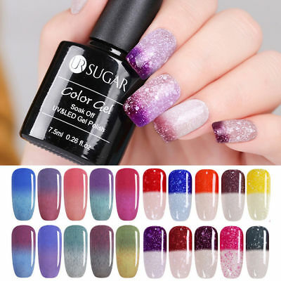 Nail Art Vernis à Ongles Semi-permanent UV Gel Polish Changement de Couleur DIY