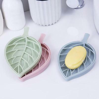 Leaf Shape Soap Dispenser Dish Plate Case Holder Container Box For Bathroom Case