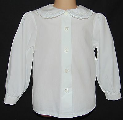 Laura Ashley vintage Mother & Child cotton lace embroidered collar blouse, 2 yrs
